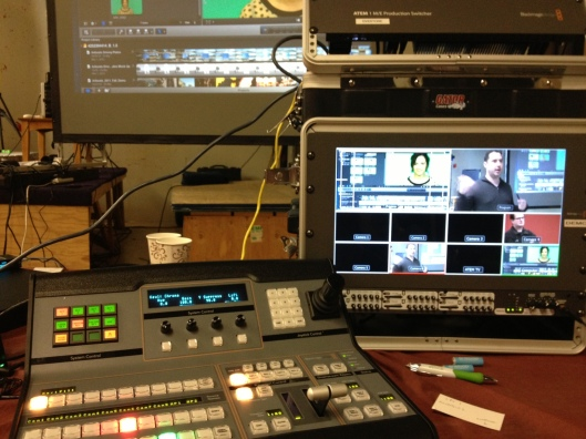 This is the rig I used to engineer the live streaming aspect of the Seattle Final Cut Pro User Group Meeting 3.12.13