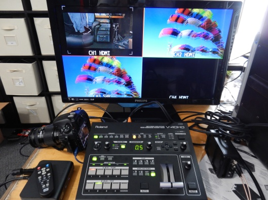 The Roland V-40HD connected up and using multiview