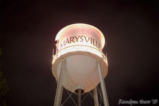 The Marysville Washington Water Tower - June 18, 2013