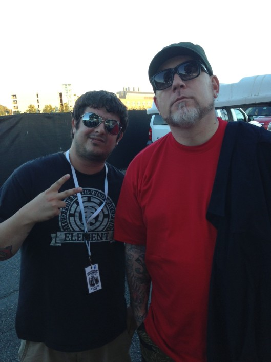 Jesse Pepin with the lead singer of Everlast at Seattle Hempfest 2013