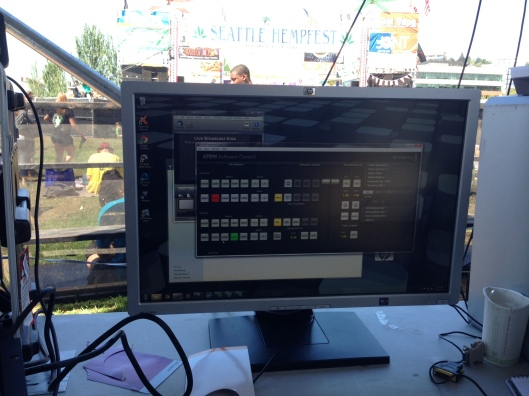 The Software Control for the BMD Production Studio 4k switcher at Seattle Hempfest
