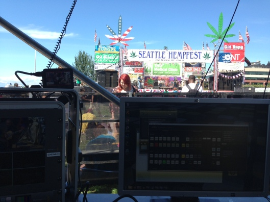 Using the Blackmagic Design 4K streaming rig at Seattle Hempfest 2013