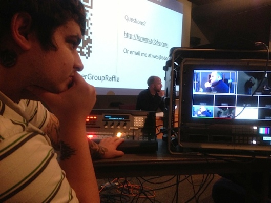 Using the Blackmagic Design 4K Switcher to live stream an Adobe User Group Meeting at the Seattle Film Institute